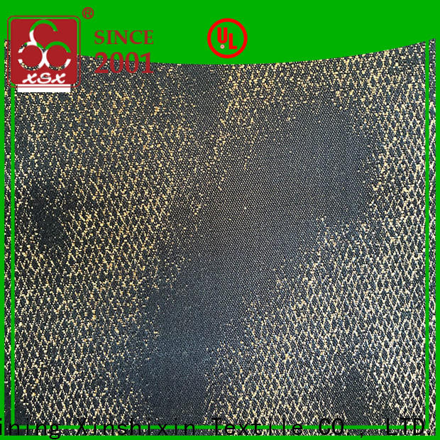 XSX knitting plaid upholstery fabric supply for Furniture