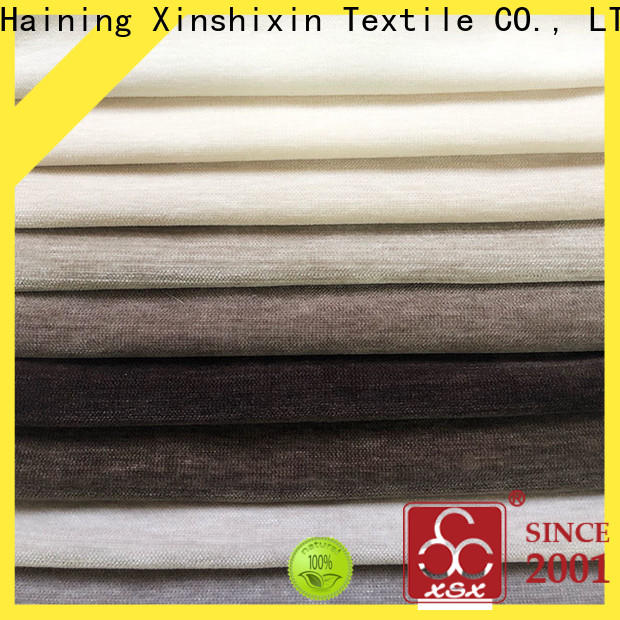 XSX wholesale textured chenille fabric factory for home-furnishing