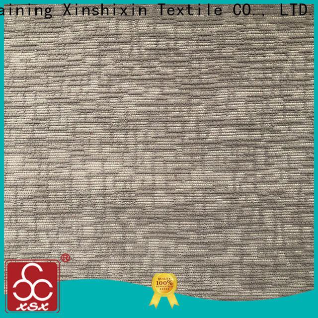 XSX strip chenille jacquard fabric supply for Bedding