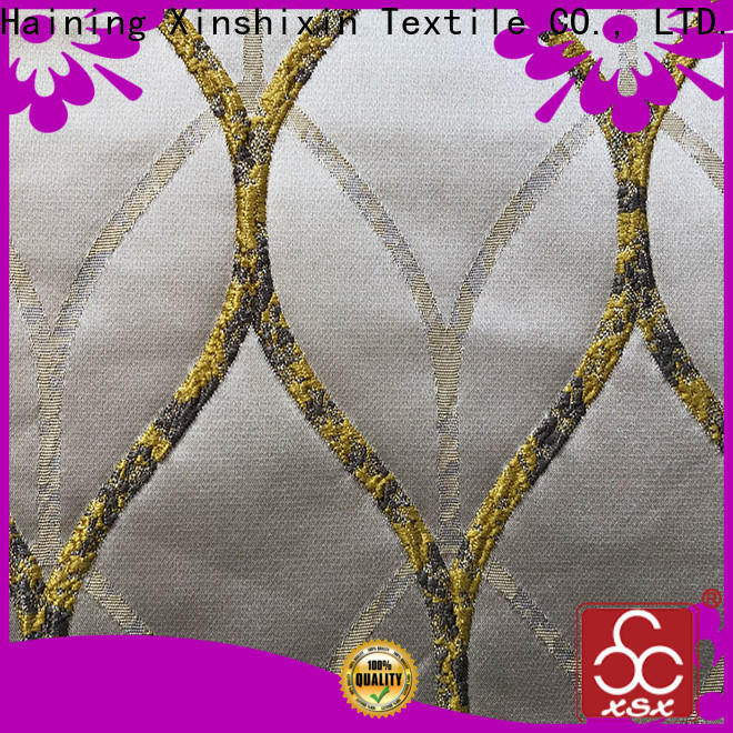 XSX upholstery jacquard woven fabric factory for Bedding