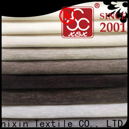 XSX velvet cream and grey curtain fabric factory for Sofa