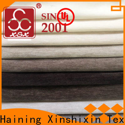 XSX custom polyester sofa material suppliers for Hotel