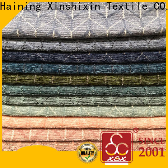 XSX knitting geometric fabric manufacturers for Bedding