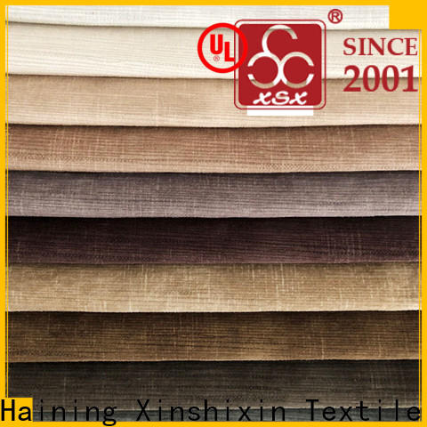 XSX top 100% polyester fabric manufacturers for Sofa