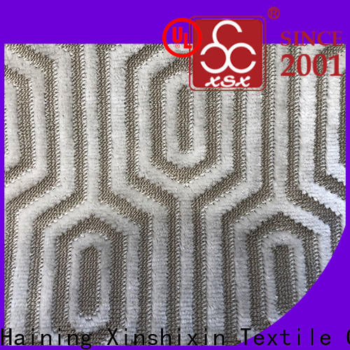 latest geometric upholstery fabric s19050a factory for couch