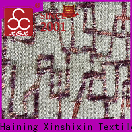 XSX textured paisley chenille upholstery fabric manufacturers for Bedding