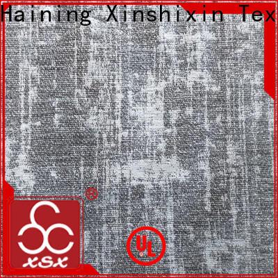 XSX custom white cotton chenille fabric for Sofa