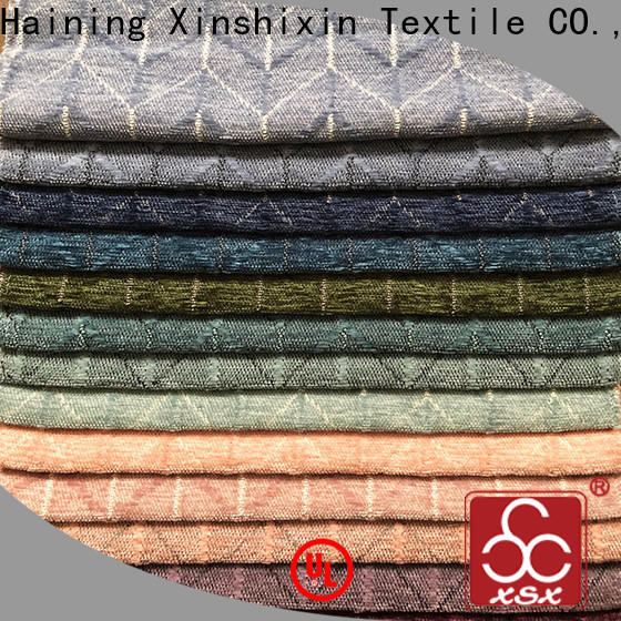 XSX lattice cotton chenille fabric for baby for Cushion Cover