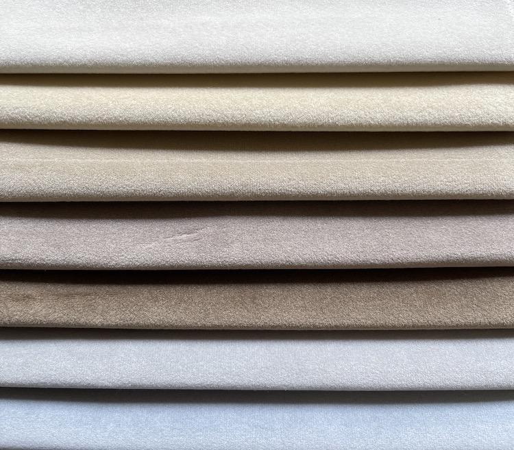 Custom Modern Plain Velvet Upholstery Fabric for Sofa WD20140A