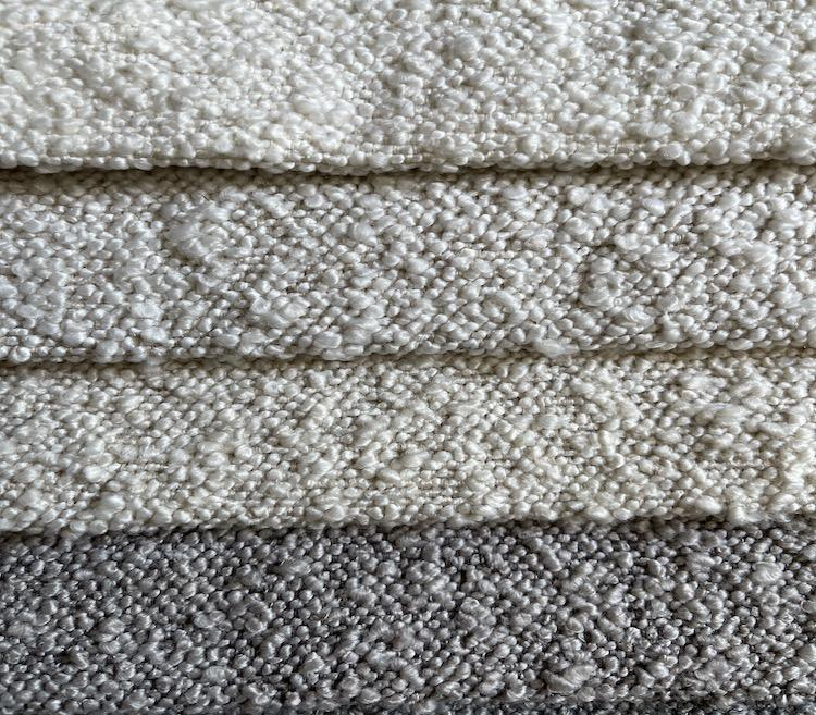 Two-Toned Soft Boucle Fabric for Sofa Woven Upholstery Fabric Stock S20010A