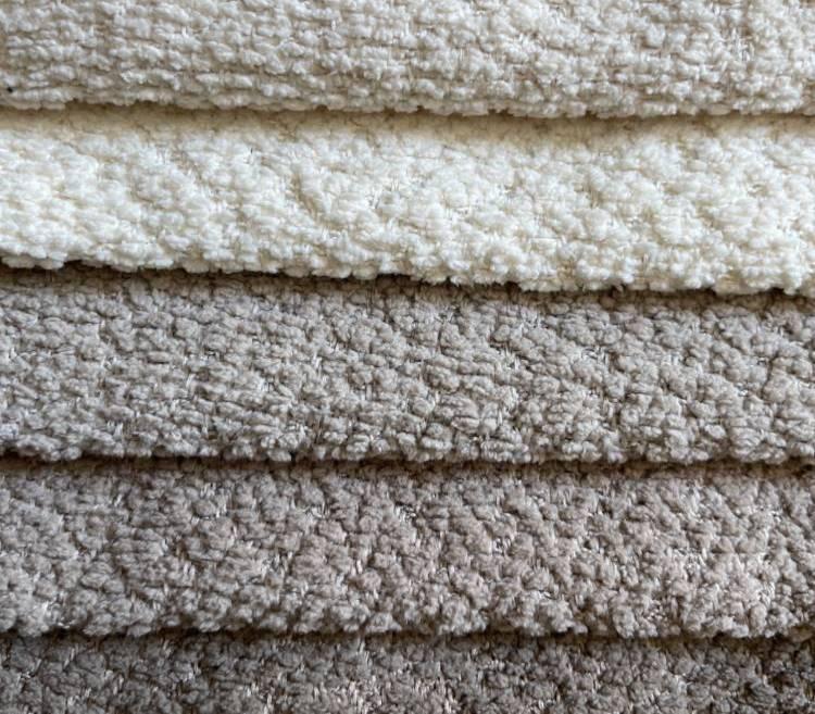Custom Modern Boucle Chenille Fabric for Sofa LT20001A