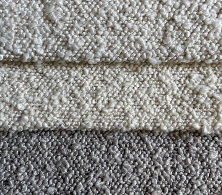 Two-Toned Soft Boucle Fabric for Sofa Woven Upholstery S20010A