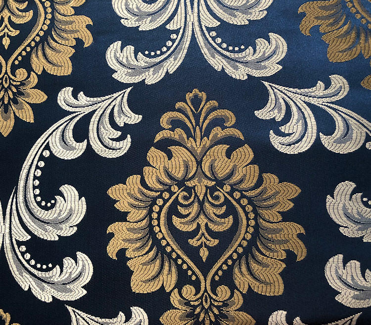 Custom Upholstery Fabric Delicate Floral Damask Jacquard Curtain Drapery Fabric H19022A