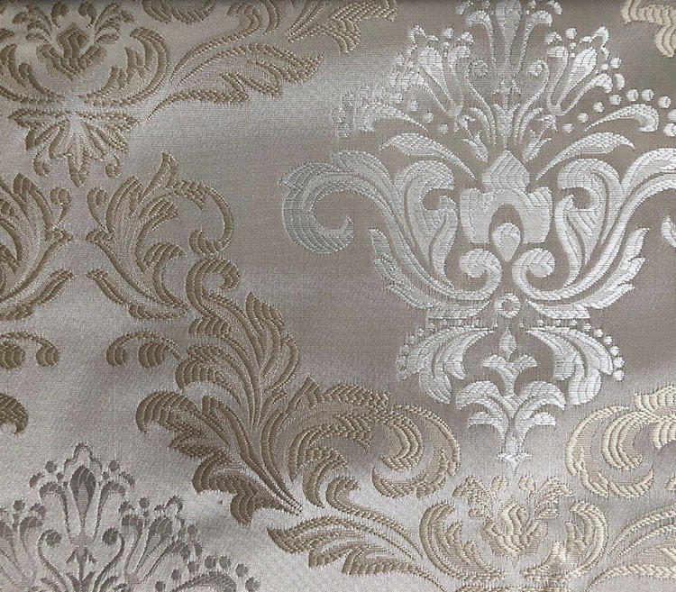 Rich Appealing Floral Damask Jacquard Curtain Fabric H19023A