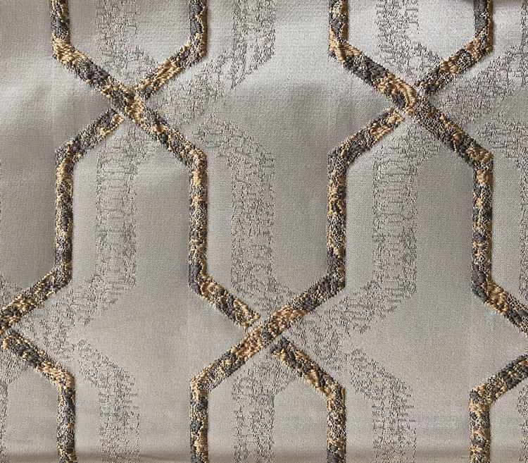Custom Striking Classic Geometric Jacquard High-Warp Density Upholstery Fabric Curtain Material Wholesale Fabric H19122G