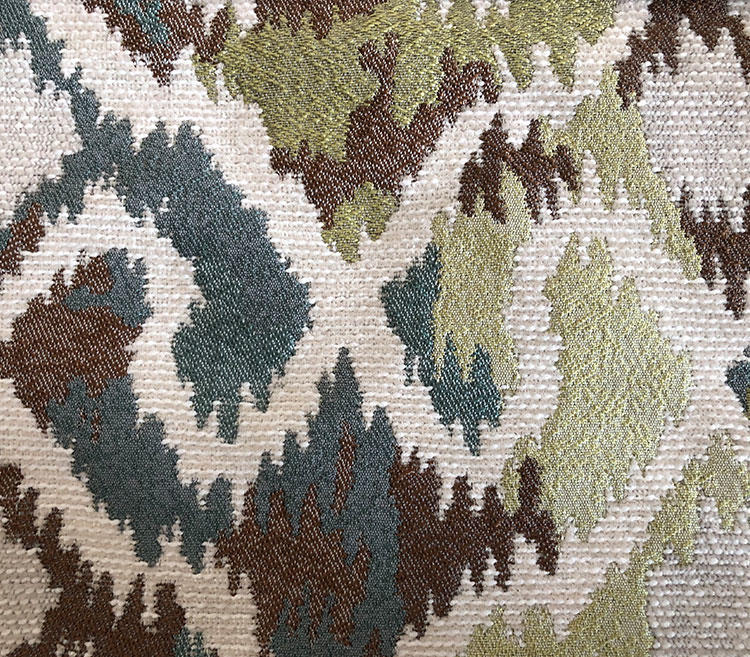 Transformed Chevron-Shaped Contemporary Chenille Jacquard Upholstery Fabric Supplier S18045A