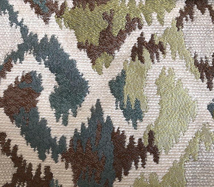 Transformed Chevron-Shaped Contemporary Chenille Jacquard Fabric S18045A