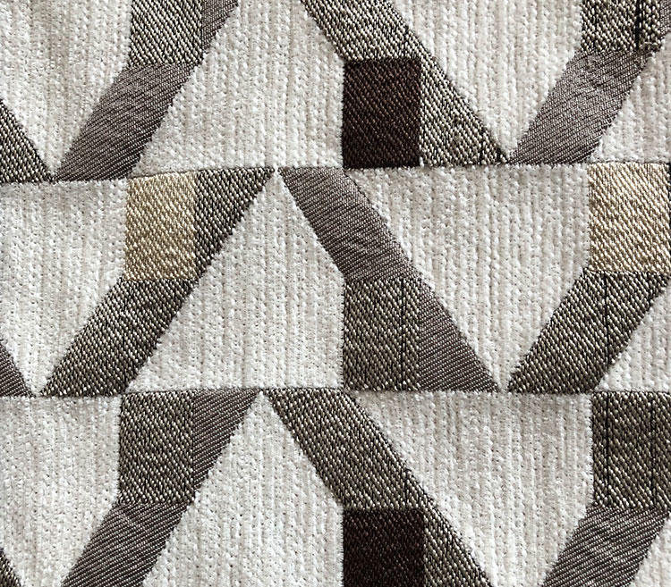 Geometric Fine Colorful Chenille Jacquard Fabric Furniture Upholstery Fabric Wholesale S18051A