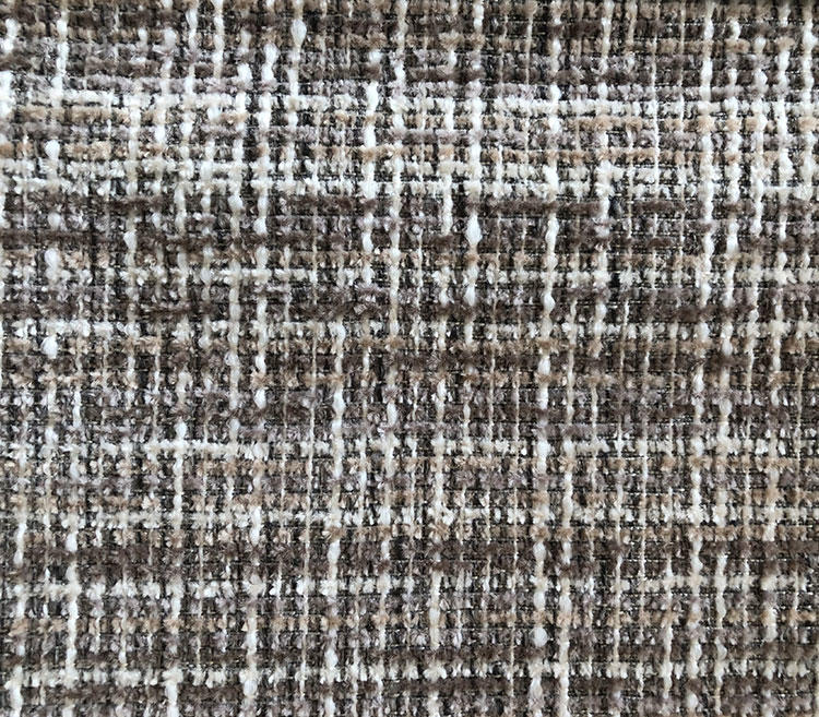 Elegant and Modern Mosaic Grid Shaped Chenille Upholstery Fabric for Sofa S19047A