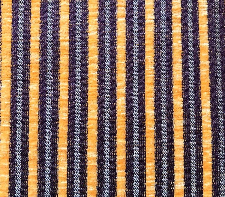 Versatile Block Stripe Jacquard Chenille Upholstery Fabric for Sofa T14166D