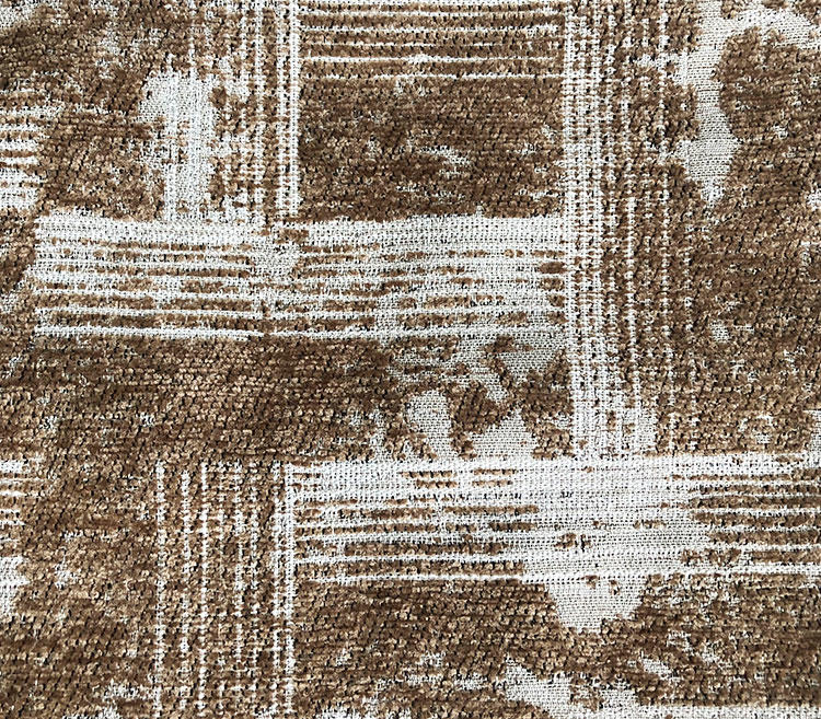 High-end Mysterious Maze Inspired Chenille Jacquard Upholstery Wholesale Fabric T19072A