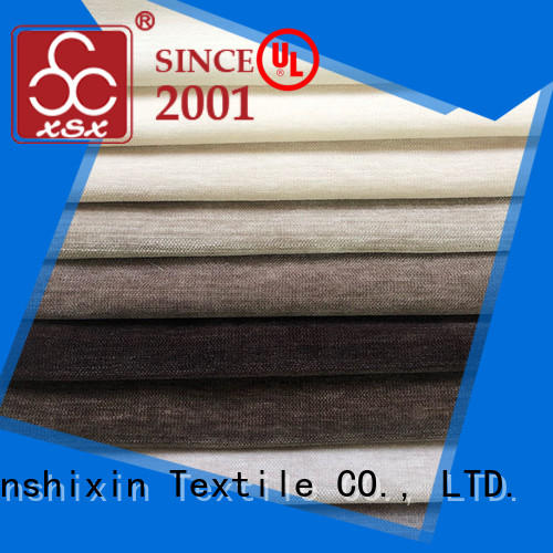 XSX latest grey chenille fabric factory for home-furnishing